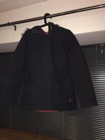 Jack Wills black Parka coat, size 10