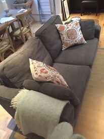 Grey/charcoal Sofa Bed (Sofa Workshop)