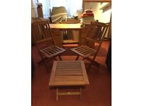 Folder away table and chairs