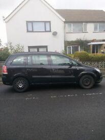 Black Vauxhall Zafira Life CDTI 7 seater diesel