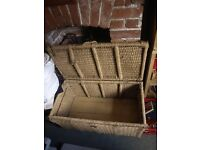 Large Wooden / Twine Basket