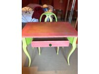 Beautiful hand-painted Scumble Goosie Gustavian Writing Table with matching SG Rosen Chair