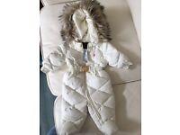 Ralph Lauren Snow Suit 3 months w/ faux fur