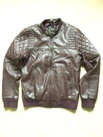 Mens Faux leather jacket (M)