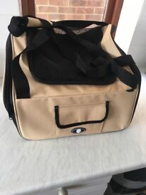 Small dog travel carrier