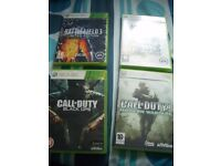 SWAP Call Of Duty Black OPs C.O.D 4 Modern Warfare Battlefield 3 & Bad Company XBOX 360 SWAP