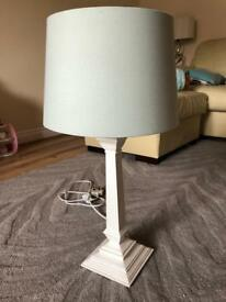 Laura Ashley lamp 59cm duck egg blue white base beautiful lamp
