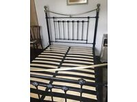 Double Victorian style double bed frame