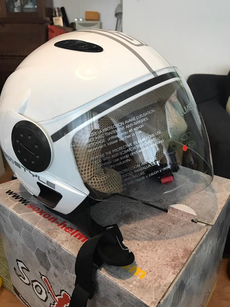 SOXON Open faced motorcycle helmet with visor x2