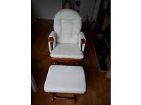 Rocking chair / nursing chair with rocking stool