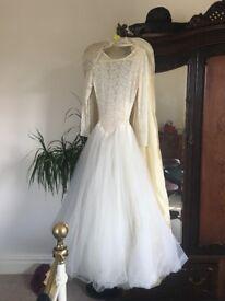 1950's Wedding Dress Original for sale size 10-12 UK