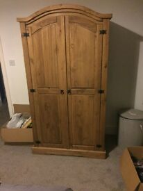 Solid Pine Wardrobe - excellent condition