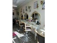 Hairdressing chair and beauty room for rent.