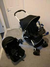 Graco travel system, pushchair, buggy, pram