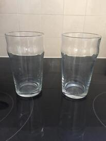 Large pint glasses- set of two