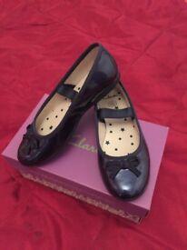 Clark's Navy Girls Shoes