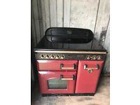 Red rangemaster 90 cooker