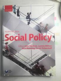 Social Policy. Fourth Edition