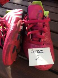 Addidas football boots size 2