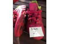 Addidas football boots size 2