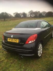 Peugeot 207 convertible 59 reg 76,000 miles on the cloc as got minor damage