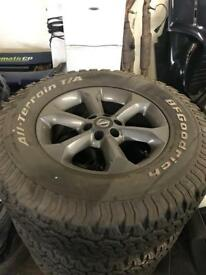 Nissan Navara wheels and tyres