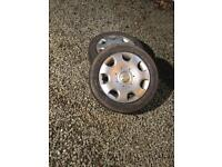 "Audi/VW 16"" steel wheels with tyres"