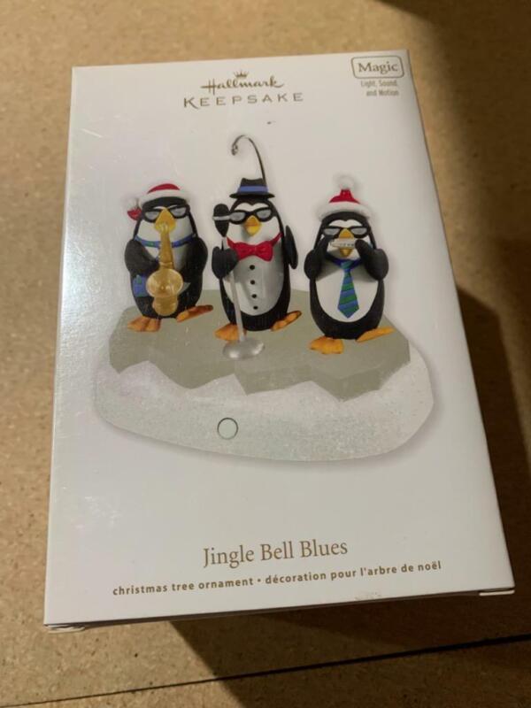 Hallmark Keepsake Ornament Jingle Bell Blues Penguins 2011 Magic Music Sound