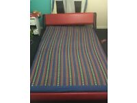 Leather double bed 4feet 6