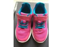 Clarks pink trainers size 8