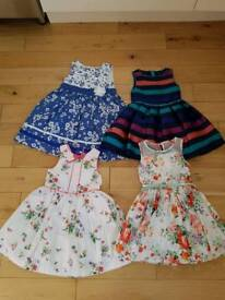 4 Girls dresses all age 4 to 5