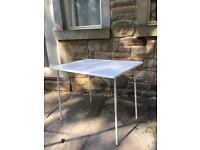 White portable table