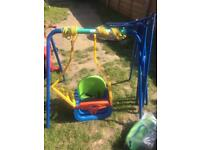 Baby/child Garden Swing with two different seats
