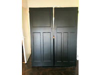 Original 1930's solid wood Doors X 5 VERY GOOD CONDITION FOR AGE. DARK JACOBEAN VARNISH