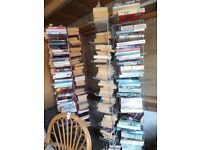 2 Display Carousel stands including job lot of approx 200 paperbacks, To clear, only £40