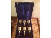 Set of 6 beautiful wine goblets