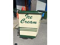 Traditional ice cream cart. Needs some TLC