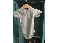 Baby clothes 3-6m grey & stripes