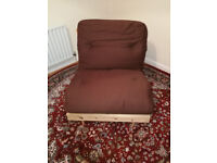 Single wood-based bed (futon) / chair for sale