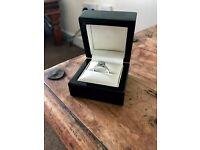 ROX DIAMOND ENGAGEMENT RING BRILLIANT/EMERALD CUT 0.75CT