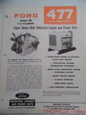 1968 Ford Power Products Model M 477 Industrial Engine Catalog Brochure Vintage