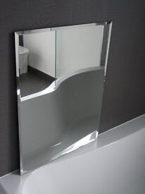 45x60cm bevelled-edge mirror (mounting hardware included) Versatile size, like new.
