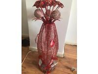 Large stylish metal flowered lamp