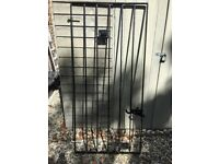 New Black Metal Steel Gate .
