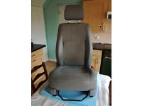 VW T5 Drivers seat. In inca cloth. Good condition with height adjustment, lumber adjustment.
