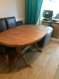 Solid wood dinning table from Scar Top