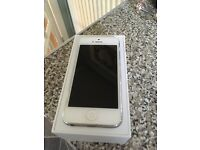 iPhone 5 silver with charger