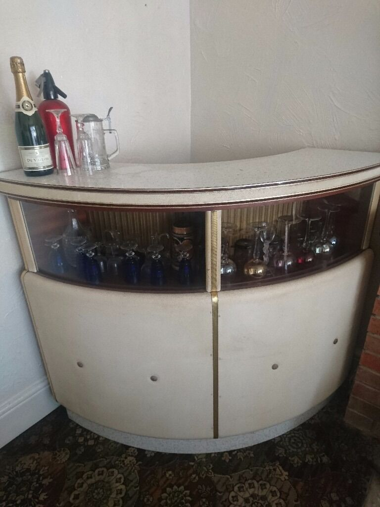 Genuine Original Vintage Home Cocktail Drinks Bar Retro