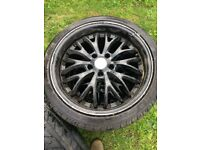 "Golf 18"" wheels with tyres"