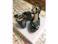 👠Stunning Miss Selfridge Processco Crown Platform Sandal Size 4 Brand New In Box